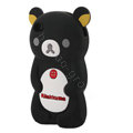Rilakkuma Silicone Cases Soft Skin Covers for iPhone 4G/4S - Black