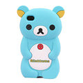 Rilakkuma Silicone Cases Soft Skin Covers for iPhone 4G/4S - Blue