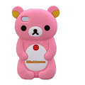 Rilakkuma Silicone Cases Soft Skin Covers for iPhone 4G/4S - Pink