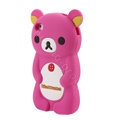 Rilakkuma Silicone Cases Soft Skin Covers for iPhone 4G/4S - Rose