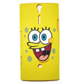 SpongeBob SquarePants scrub cases skin covers for Sony Ericsson LT26i Xperia S - Yellow