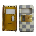 LV Louis Vuitton leather Cases Luxury Holster Covers for Nokia N8 - White EB001