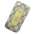 Luxury GUCCI leather Cases Holster Covers for iPhone 4G/4S - Brown