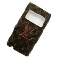 Luxury LV Louis Vuitton leather Cases Holster Skin for Nokia N8 - Brown