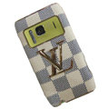 Luxury LV Louis Vuitton leather Cases Holster Skin for Nokia N8 - White