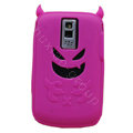 Devil TPU Soft Skin Silicone Cases Covers for Blackberry Bold 9000 - Rose