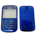 Front and Back Housing With Keypad Fullset Covers for Blackberry Bold 9000 - Blue