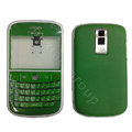 Front and Back Housing With Keypad Fullset Leather Case for Blackberry Bold 9000 - Green