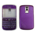 Front and Back Housing With Keypad Fullset Leather Case for Blackberry Bold 9000 - Purple