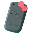 Hello kitty TPU Soft Skin Cases Covers For BlackBerry Curve 8520 9300 - Black