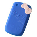 Hello kitty TPU Soft Skin Cases Covers For BlackBerry Curve 8520 9300 - Blue