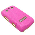 Kingpad Luxury Hard leather Cases Skin Covers for Blackberry Bold 9700 - Rose