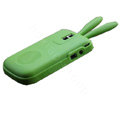 Rabbit TPU Soft Skin Cases Covers for Blackberry Bold 9000 - Green