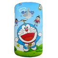 Cartoon Doraemon Scrub Hard Cases Covers for Sony Ericsson WT19i - Blue