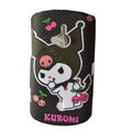 Cartoon Kuromi Scrub Hard Cases Covers for Sony Ericsson WT19i - Black