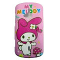 Cartoon Miffy Scrub Hard Cases Covers for Sony Ericsson WT19i - Pink