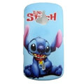 Cartoon Stitch Scrub Hard Cases Covers for Sony Ericsson WT19i - Blue