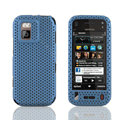 Front and Back Mesh Cases Skin Covers for Nokia N97 mini - Sky blue