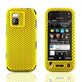 Front and Back Mesh Cases Skin Covers for Nokia N97 mini - Yellow