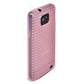 ROCK Magic cube TPU soft Cases Covers for Samsung i9100 i9108 Galasy S2 - Pink
