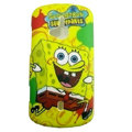 SpongeBob SquarePants Scrub Hard Cases Covers for Sony Ericsson WT19i - Yellow