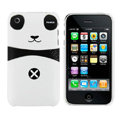 Cartoon Couple Panda Hard Cases Skin Covers for iPhone 3G/3GS - Black