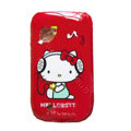 Cartoon Hello kitty Hard Cases Covers Skin for Nokia N9 - Red