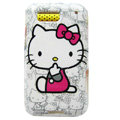 Cartoon Hello kitty Hard Cases Covers for Motorola Defy ME525 MB525 - White