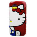 Cartoon Hello kitty Hard Cases Skin Covers for Nokia C5-03 - Red
