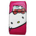 Cartoon Hello kitty Hard Cases Skin Covers for Nokia N8 - Rose