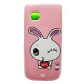 Cartoon Lover Rabbit Hard Cases Skin Covers for Nokia C5-03 - Pink