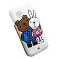 Cartoon Metoo Hard Cases Skin Covers for Nokia C5-03 - White