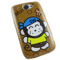 Cartoon Monkicni Hard Cases Covers for HTC Touch2 T3333 A3380 Wildfire G8 - Brown