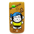 Cartoon Monkicni Hard Cases Skin Covers for Nokia C5-03 - Brown