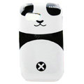Cartoon Panda Hard Cases Skin Covers for Samsung S5360 Galaxy Y I509 - Black