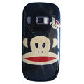 Cartoon Paul Frank Hard Cases Covers Skin for Nokia C7 C7-00 - Black