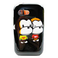 Cartoon Paul Frank Hard Cases Covers for Samsung S5360 Galaxy Y I509 - Black