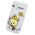 Cartoon Rilakkuma Hard Cases Skin Covers for Nokia C5-03 - White