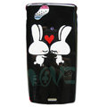 Double Rabbit Hard Cases Covers for Sony Ericsson Xperia Arc LT15I X12 LT18i - Black