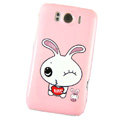Lover Rabbit Hard Cases Covers for HTC Sensation XL Runnymede X315e G21 - Pink