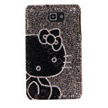 Bling Hello kitty Swarovski Crystals Covers Cases For Samsung Galaxy Note i9220 N7000 - Black