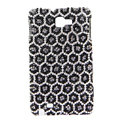 Bling Leopard Swarovski Crystals Cases Covers For Samsung Galaxy Note i9220 N7000 - Black