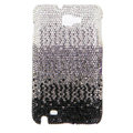 Bling Swarovski Crystals Cases Covers For Samsung Galaxy Note i9220 N7000 - Gradient Black