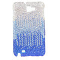 Bling Swarovski Crystals Cases Covers For Samsung Galaxy Note i9220 N7000 - Gradient Blue