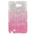 Bling Swarovski Crystals Cases Covers For Samsung Galaxy Note i9220 N7000 - Gradient Pink