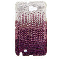 Bling Swarovski Crystals Cases Covers For Samsung Galaxy Note i9220 N7000 - Gradient Rose
