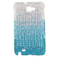 Bling Swarovski Crystals Cases Covers For Samsung Galaxy Note i9220 N7000 - Gradient Sky-blue