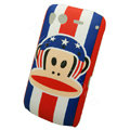Cartoon Paul Frank Hard Cases Skin Covers for HTC Desire S G12 S510e - Blue