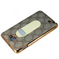 GUCCI Luxury leather Cases Holster for Samsung Galaxy Note i9220 N7000 - Brown