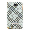 Kingpad Burberry Luxury leather Cases Holster for Samsung Galaxy Note i9220 N7000 - White